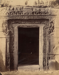 Close view of the entrance to the ''Amrita'' Cave (Cave XIX), Udayagiri, Madhya Pradesh